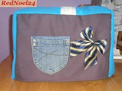 Lovely Strong Cotton Purple Sewing Machine Cover and a Large Denim Pocket.