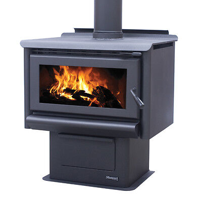 Masport R1600 Wood Heater with Flue Kitt