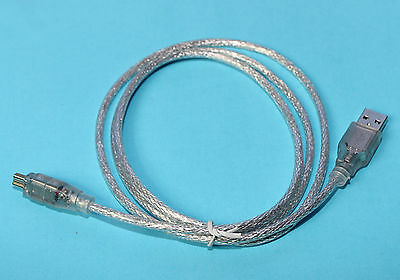 FireWire 4 Pin to FireWire 6 Adapter Cable Male to Male 80cm  - Orrox
