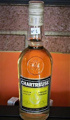 1★CHARTREUSE ♦ TARRAGONA Jaune ★ 1/2 BOTELLA - 37,5cl ♦ VERY VERY OLD' 70s