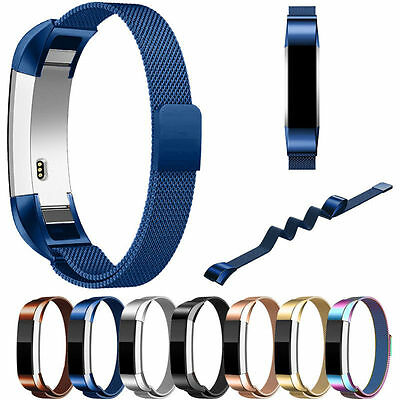 Magnetic Milanese Loop Stainless Steel Watch Band Strap For Fitbit Alta HR