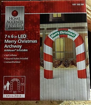 New Led Merry Christmas Archway 7 foot 6 inches Tall Airblown Inflatable