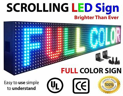 "FULL COLOUR Programmable 8""x40"" P10 LED Display Panel Sign Scrolling Message"