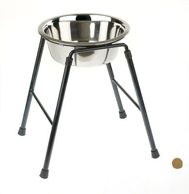 Raised Single Dog Feeder High Stand inc Bowl High stand Feeder for Larger Dogs