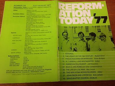 Reformation Today magazine, Issue 38 July- August 1977