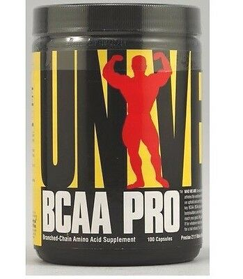 Universal BCAA PRO 100 Capsules 2:1:1 Ratio Vit B6 Branched Chain Aminos