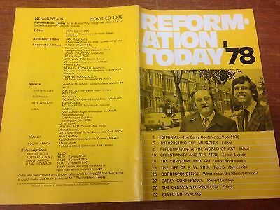 Reformation Today magazine, Issue 46 November- December 1978