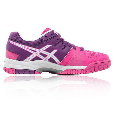 Asics Gel-Game 5 Womens Pink Purple Tennis Court Sports Shoes Trainers