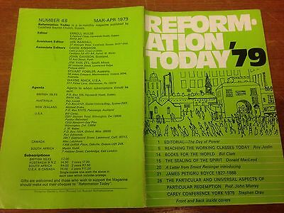 Reformation Today magazine, Issue 48 March- April 1979