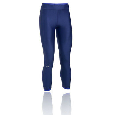 Under Armour Heatgear Womens Blue Compression Training Long Tights Pants