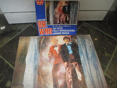Vtg Rare Troughton Dr Who Jigsaw Pertwee  1973 Complete