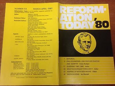 Reformation Today magazine, Issue 54 March- April 1980