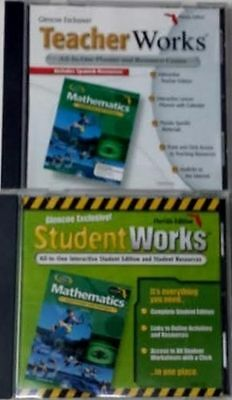 Grade 8 Glencoe Math CDs Student Teacher Edition Homeschool 8th Curriculum