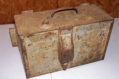 Vintage Metal Box Battery Electrical Tool Tractor Truck Army Vehicle Equipment