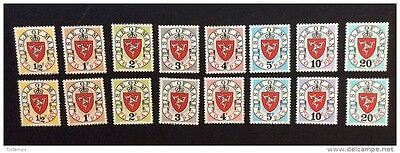 Isle of Man 1973 Postage Due Both Sets MNH SG D1-D8 and D1a-D8a
