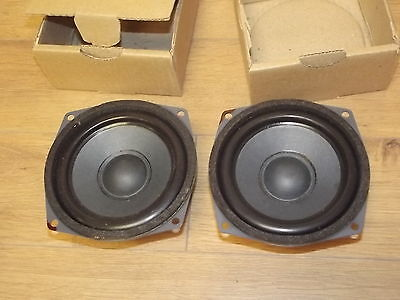 POLYDAX pair of Vintage Midrange speaker NEW old Stock Made in FRANCE