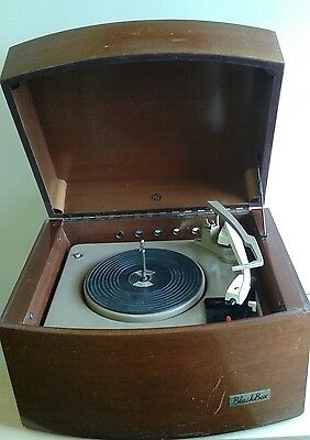 Pye record player 1960s retro collectable, Vintage Mono Hi-Fi Black Box