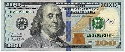 USA $100 STAR Note 2009A in VF Circulated Cond