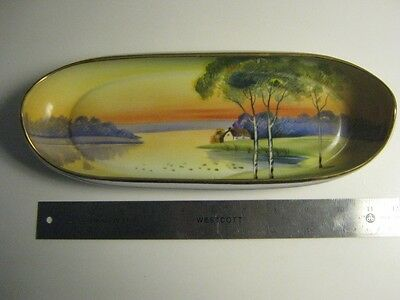 Nippon Canoe dish, with the cottage scene