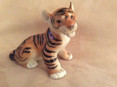 A Lovely Vintage Russian Lomonosov Tiger Cub Figure