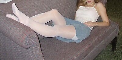calze, collant, tight, Pantyhose USED.Bianche. White