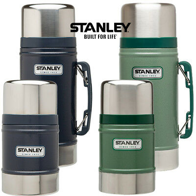 Stanley Classic Vacuum Food Jar Flask Stainless Steel Camping Hot Cold Thermos