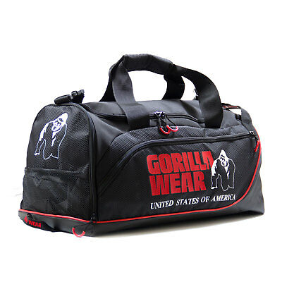 Gorilla Wear Jerome Gym Bag Schwarz/Rot Tasche Sporttasche Training Beutel Body
