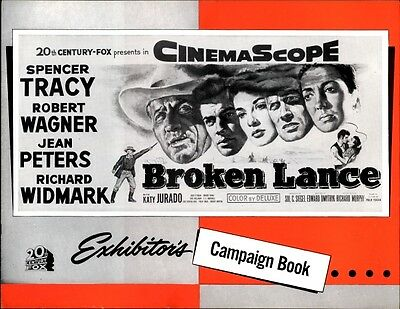 BROKEN LANCE pressbook, CINEMASCOPE, Spencer Tracy, Jean Peters, Richard Widmark