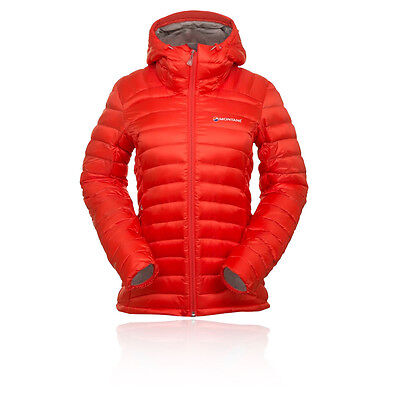 Montane Fem Featherlite Womens Orange Water Resistant Windproof Hooded Jacket