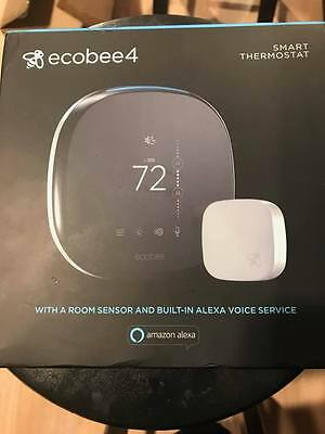 Ecobee 4 Smart Thermostat with sensor and Alexa integration NEW