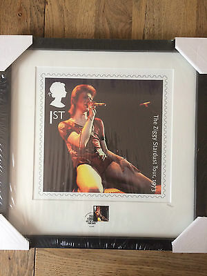 Royal Mail David Bowie Stamp and Print framed set: Complete, 4 pieces, MINT