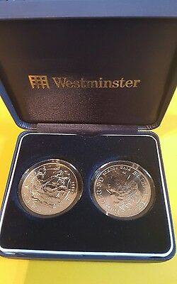 Westminster The Battle of Trafalgar UK £5 Pair - COA Sealed