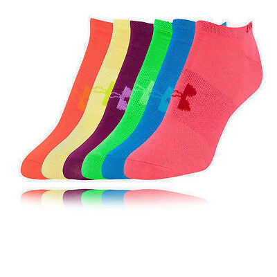 Under Armour Solid No Show Womens Training Work Out Anklet Socks 6 Pack
