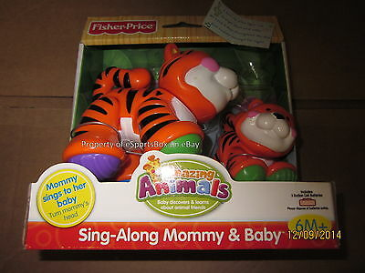 NEW Fisher Price Amazing Animals Sing-Along Mommy & Baby - Tiger