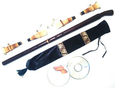 BASS Duduk Professional Armenian 4 reeds 2 CD case Flute Oboe Mey Ney NEW