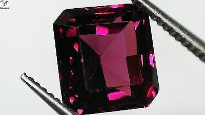 1x Rodolith Granat -  Octagon facettiert 1,81ct. 6,3x6,0x4,0mm (1179A)