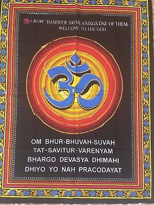 tapiz decoracion pared Om hinduism meditation spiritual mantra tapestry decor