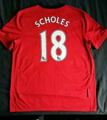 Manchester United Home Shirt  (Scholes 18 ),Size Large,BNWOT.