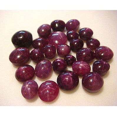 6 Pcs WHOLESALE Star Ruby Cabochon, Oval Star Ruby Cabochons, AAA Star Ruby