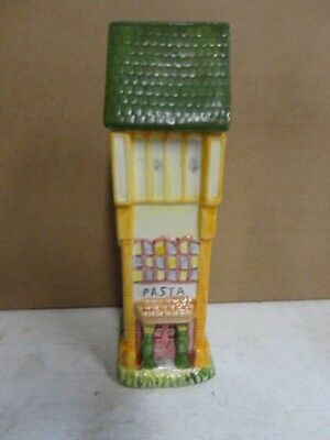 Ceramic Pasta three-story house shaped canister jar