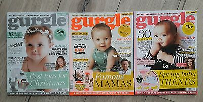Gurgle Magazines September 2016 and January and May 2017 Bundle New