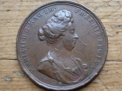 Commemorative medal for the death of queen Mary 11. Dated  1694