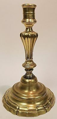 Early Antique 18th cent. French Brass Candlestick - Unusual form