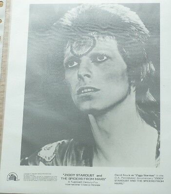 Rare David Bowie 20th Fox Release Photo Ziggy Stardust Laminated very scarce