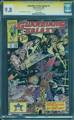 Guardians of the Galaxy 1 CGC SS 9.8 Stan Lee Signed Star Lord Movie HOT