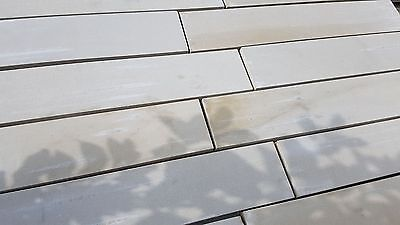 Sawn Mint Linear Paving slabs flags patio indian stone END OF LINE CLEARANCE