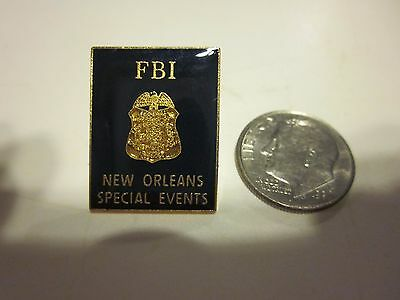 F.B.I. AGENT BADGE New Orleans SPECIAL EVENTS POLICE Pin HALLMARKED