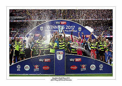 Huddersfield Town Play Off Final Wembley Photo A4 Print Photo Trophy 29Th May
