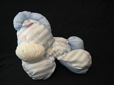 1991 Fisher Price Puffalump Sleepy time Pony Zebra blue white broad striped