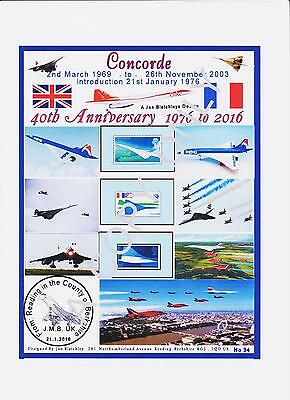 GB 1969.A4 LAMINATED SHEETS DESIGNED CONCORDES FIRST FLIGHT - FDC & CARDS (34a)